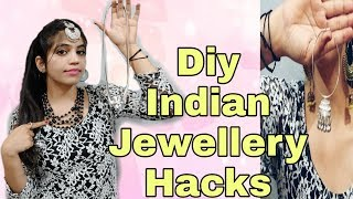 8 Diy Easy Indian Jewellery Hacks 2019| Amazing Wedding Jewelry Hacks Must Try| neshafashion