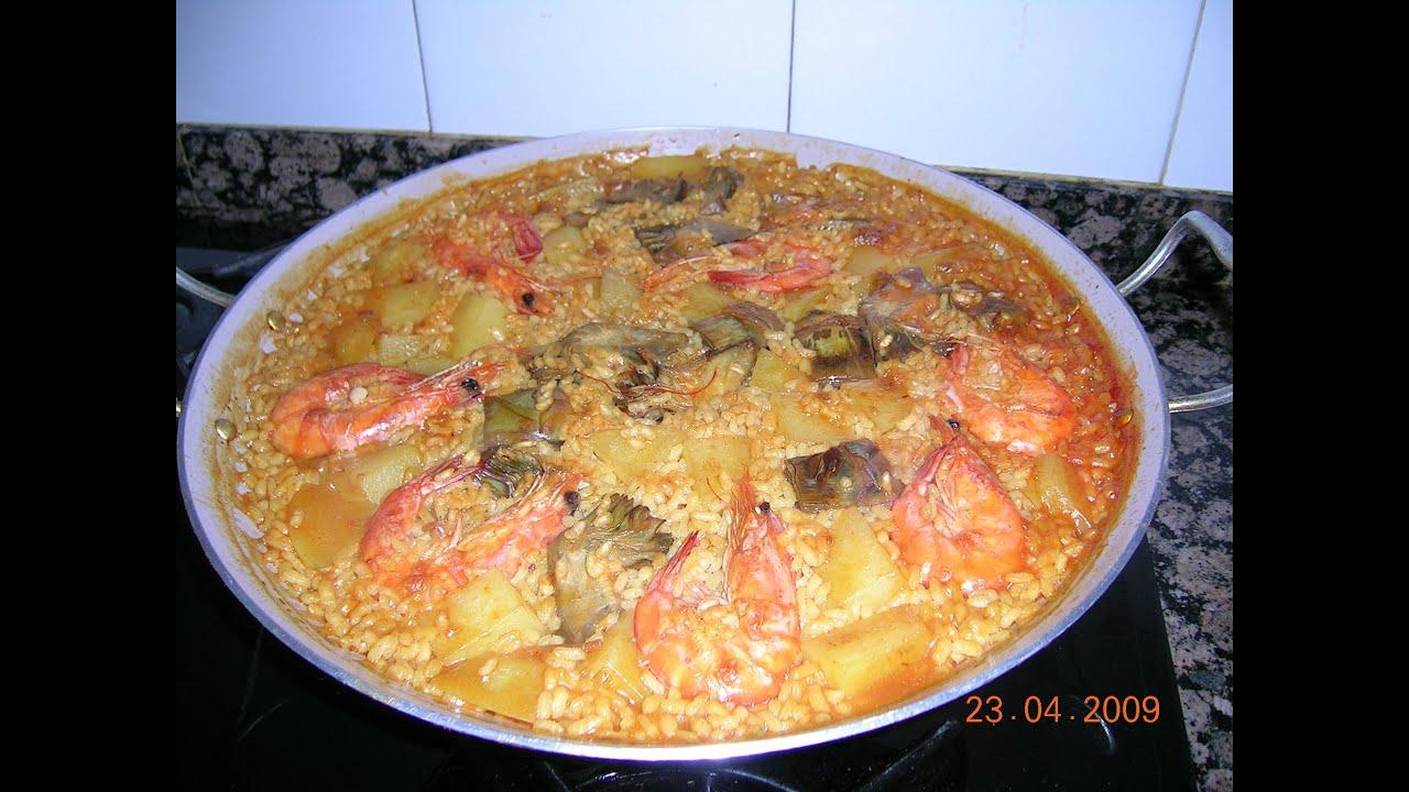 Arroz paella de pescado youtube - Paella de pescado ...