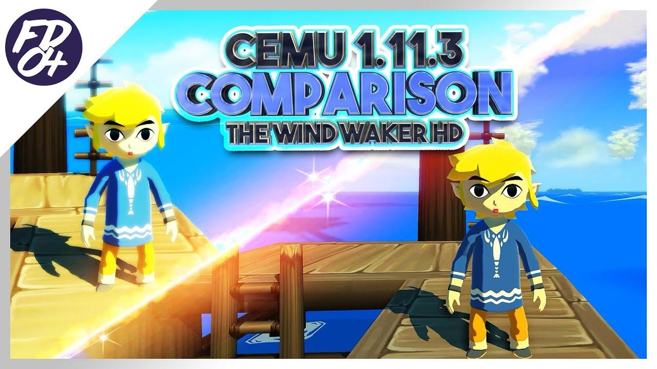 Cemu 1 11 3 | Zelda: The Wind Waker HD Graphics Packs and Gamecube  Comparison