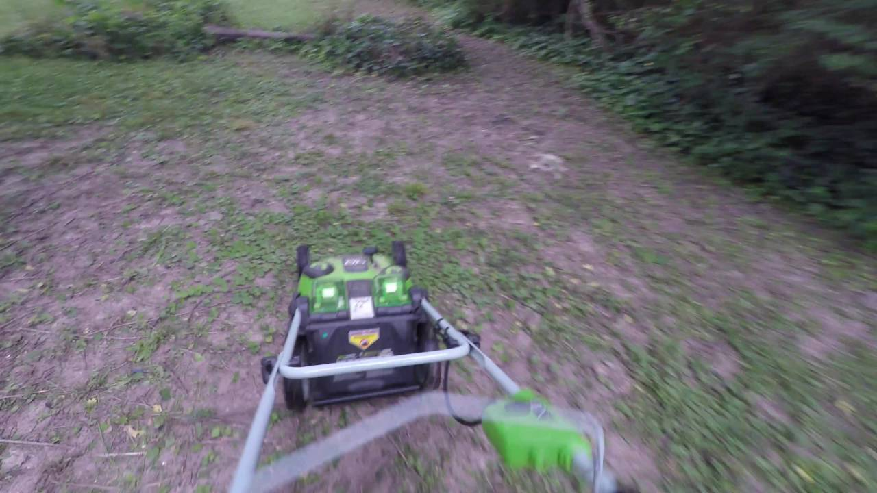 GreenWorks Twin Force Mower Review - Part 2 - Sound Comparison and Mow  Quality