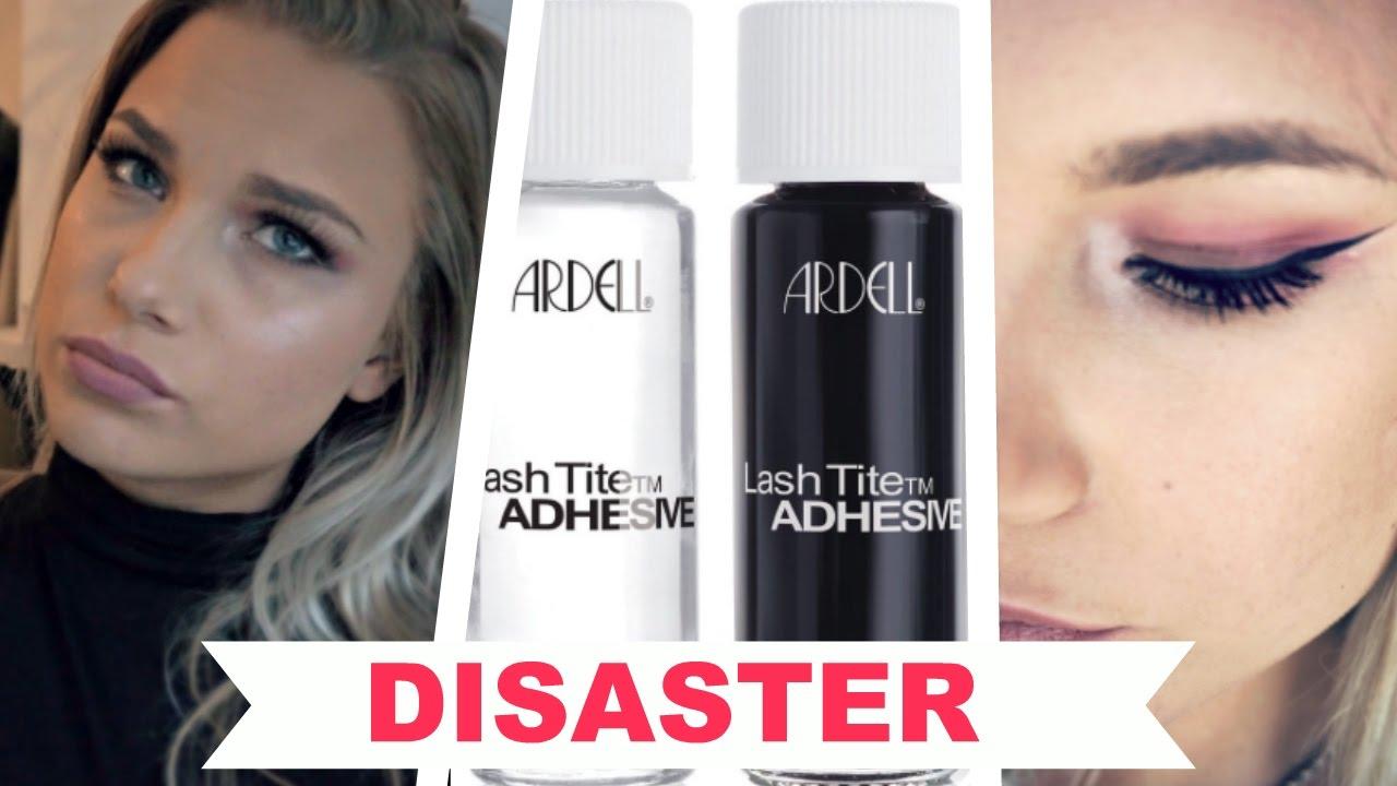 551247744ae DIY Eyelash Extensions DISASTER! | Ardell Lashtite Adhesive - YouTube