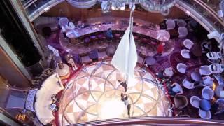 Brilliance of the Seas - Atrium Lobby Arial Dance Team - Music: Madona