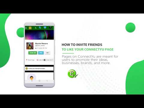 How to invite Friends to like your Page on ConnectYu | ConnectYu Tutorial