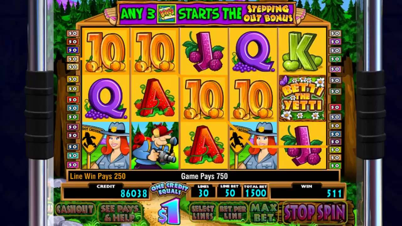Betty The Yetti Slot Machine Online