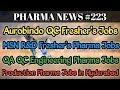 PHARMA NEWS #223 Aurobindo Bharat Biotech Honour MSN Pharma Jobs for freshers & EXP | Pharma Guide