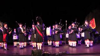 PLC Proms Concert 2015: Senior Pipe Band - Waltzing Matilda. Children's Song Set.
