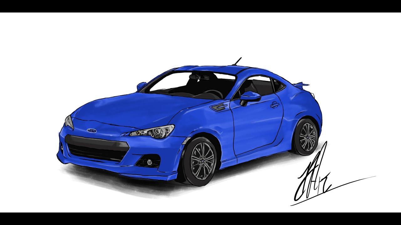 Speed Drawing Of Subaru Brz By Kuvok Youtube