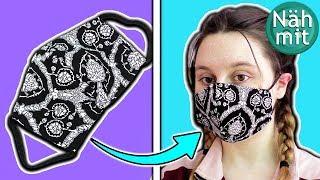 Maske von Hand nähen | Zusatz Teil 1 ohne Schnitt | Nähen für Anfänger | einfach | Näh mit mir!