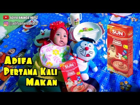 Pertama Kali Adifa Makan Bubur Bayi SUN - Bayi Lucu Makan Bubur Bayi - Makanan Bayi Bubur SUN