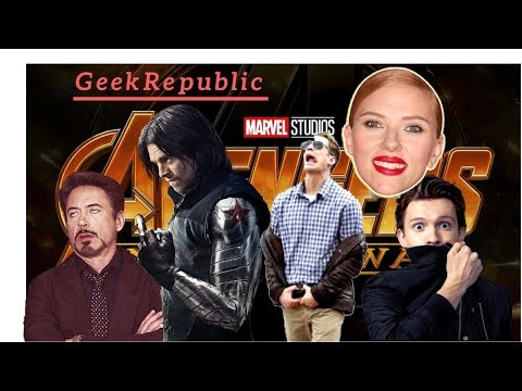 Avengers: Infinity War Cast Funny Moments, Bloopers & Then vs Now in 2018! Part - 1 | GeekRepublic