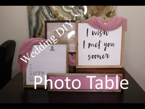 Wedding DIY l Wedding Photo Table Decor