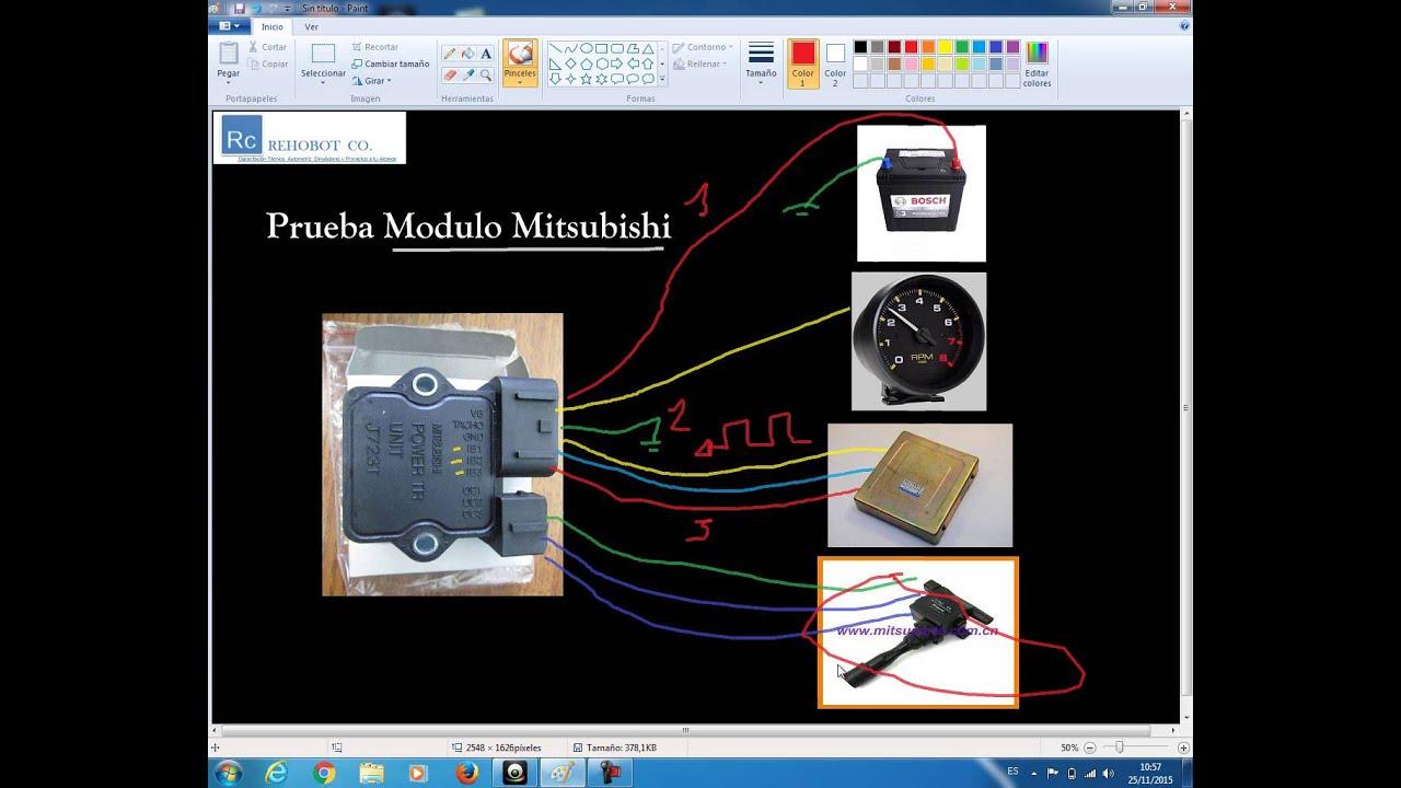 98 Mitsubishi Eclipse Wiring Diagram Modulo De Encendido Mitsubishi Youtube