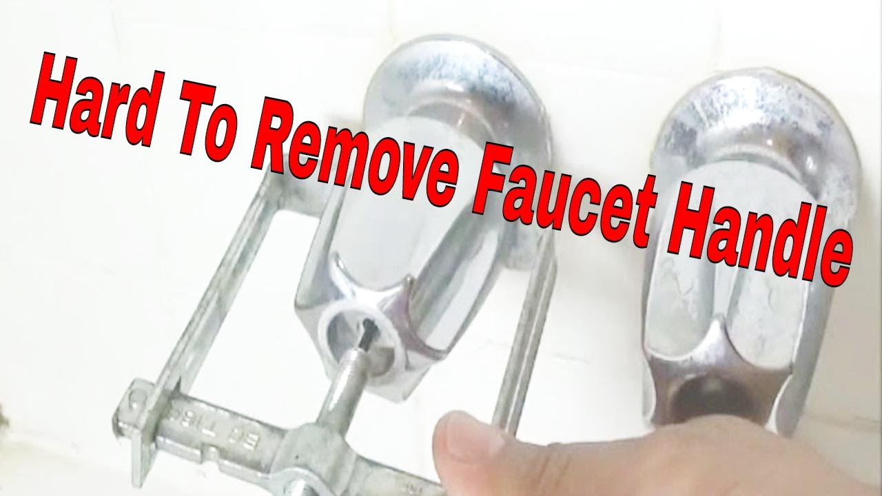 Hard To Remove Faucet Handle - YouTube