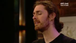 "Hozier singing ""Take Me To Church"" 