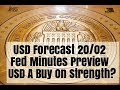 USD Forecast Outlook Fed Minutes Realize Preview 20/02