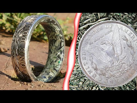 Making A Silver Dollar Coin Ring With Shredded Money