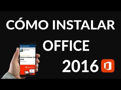 Cómo Instalar Office 2016