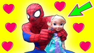SPIDERMAN with Frozen Elsa Olaf Unboxing Toys Funny Fun Spiderman Superheroes Movie Compilation