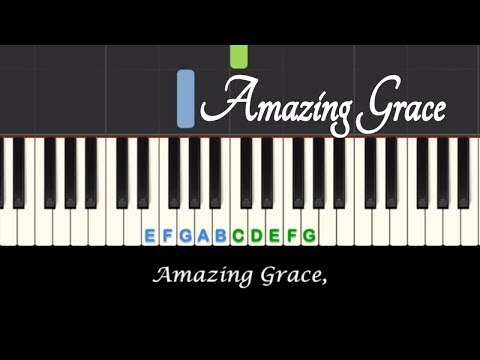 Amazing Grace sing-along piano lesson with free sheet music