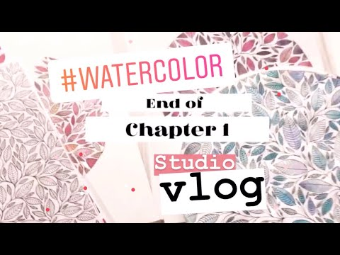 Art Vlog 12 | Artist Studio | Watercolor Illustration