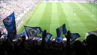 Werder Bremen 0:3 FC Schalke 04 - 15.08.2015 - Nordkurve unterwegs - Stimmung + Das Tor zum 3:0 Live