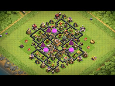 MAXED OUT TOWN HALL 8 BASE CLASH OF CLANS (COC)