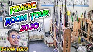 បន្ទប់ដាក់សន្ទូចរបស់ខ្ញុំ ២០២០ | Tavan Solo Fishing Room Tour 2020 | Phnom Penh Vlog #85