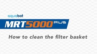 MRT 5000 Plus How to clean the filter basket
