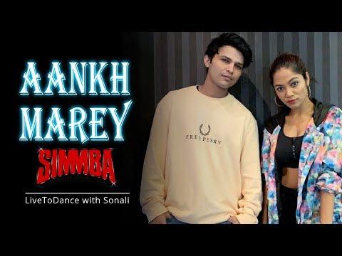 Aankh Marey - Simmba   Dance Choreography   LiveToDance with Sonali ft. Ankit Sati
