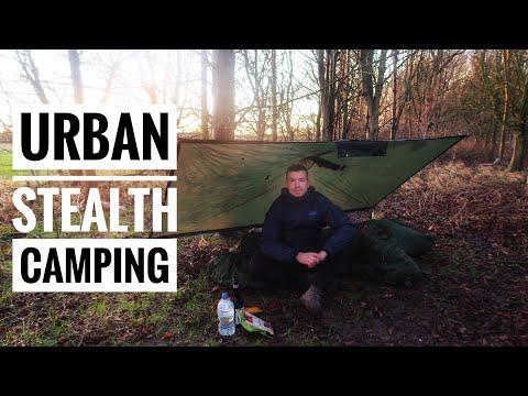 Urban Stealth Camping / Poncho Shelter / Bivvy Camping #wildcamping #bushcraft