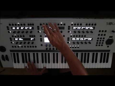 John Bowen SOLARIS Demo of tweaking, sound design and some patches