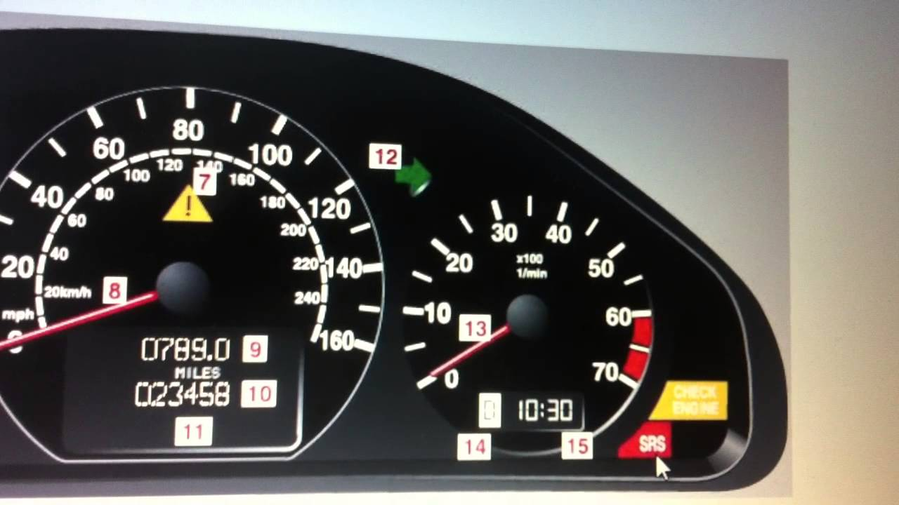 mercedes e class w210 srs airbag warning light - how to turn it