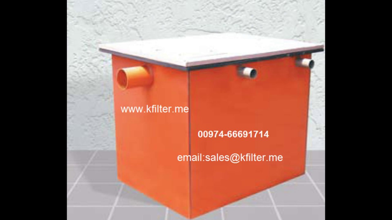 Kitchen Grease Trap and Filter Qatar - YouTube