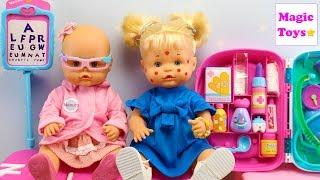 Bebés Nenuco Hermanitas Traviesas van a la CONSULTA MÉDICA NENUCO Naia tiene Varicela