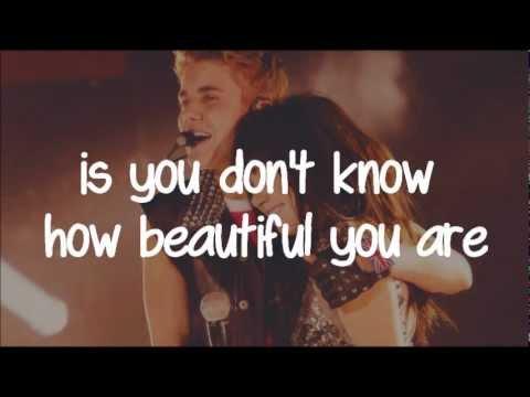 Beautiful - Carly Rae Jepsen ft. Justin Bieber (lyrics)