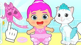 BABY LILY and KIRA dress up to do Ballet 🎵🩰 Cartoons for kids