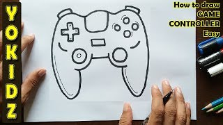 How to draw a GAME CONTROLLER easy