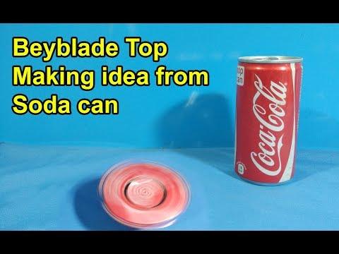 making soda can beyblade top looking valtreak | Metal beyblade top making idea from soda can