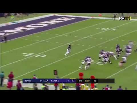 Bobby Rainey 96 Yard Kick Return Touchdown Ravens vs Bears