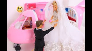 Barbie Perfect Private Wedding With Private Airplane Jet