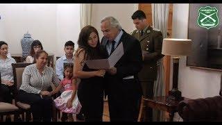 Ceremonia de entrega de pensiones de gracia a familiares de Mártires de Carabineros
