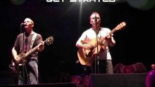 Mark Seymour Eddie Vedder Live - Throw your arms around me - lyrics on screen
