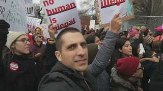 Angelo Was At the White House to Protest the Muslim Ban