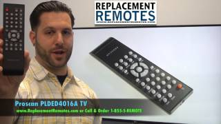 Proscan PLDED4016A TV Remote Control- www.ReplacementRemotes.com