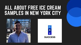 Discussing free ice cream samples in New York before going to the taping of The Late Show!!