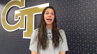 Fighting Peaches: Georgia Tech volleyball Kodie Comby interview 9.19.18 #sportsinquirer #georgiatech