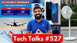 Tech Talks #527 - Jio Double Dhamaka, Vivo Nex S, Uber Lite, Redmi 6A, In-Flight WiFi India