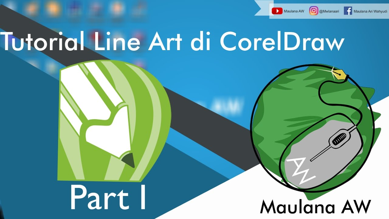 Line Art Coreldraw Tutorial : Tutorial line art di coreldraw bahasa indonesia part