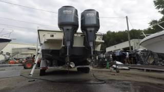 twin yamaha 250 4 stroke outboards simrad nss12