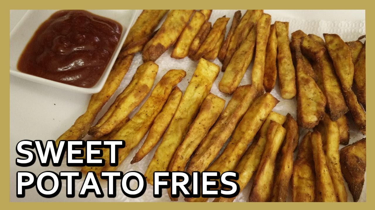 Baked Sweet Potato Fries Oven Baked Sweet Potato Fries Airfryer Recipes By Healthy Kadai